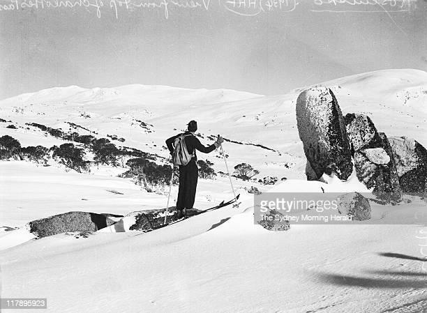 A skiing party at Mount Kosciuszko NSW 1933