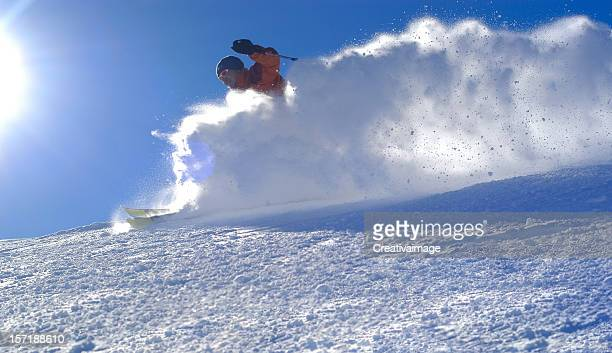 skiing - telemark stock pictures, royalty-free photos & images