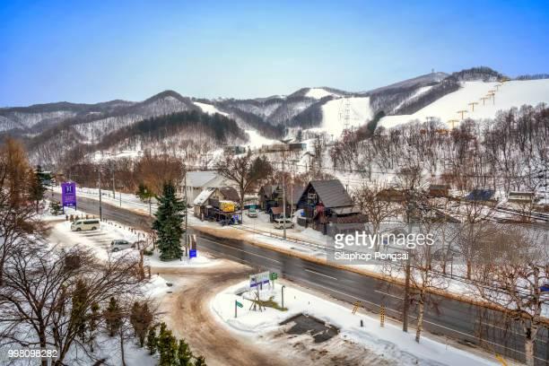 Skiing resort at good weather, Otaru, Hokkaido, Japan