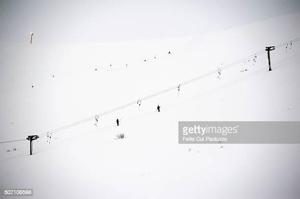 Skiing resort in Isafjordur Westfjords of Iceland
