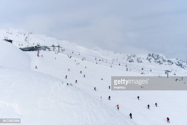 Skiing track on the Hochzillertal