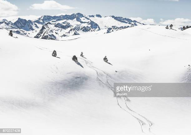 Skipisten in den Pyrenäen Val d ' Aran Katalonien Spanien