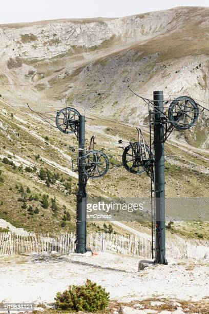Ski-lift in the summer