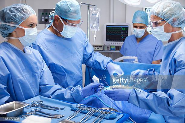 skilled surgical team - gchutka stock pictures, royalty-free photos & images