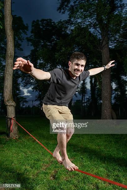 Skilled tightrope walker