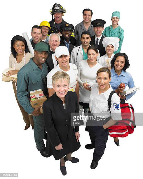 skilled trade workers - number of people stock pictures, royalty-free photos & images