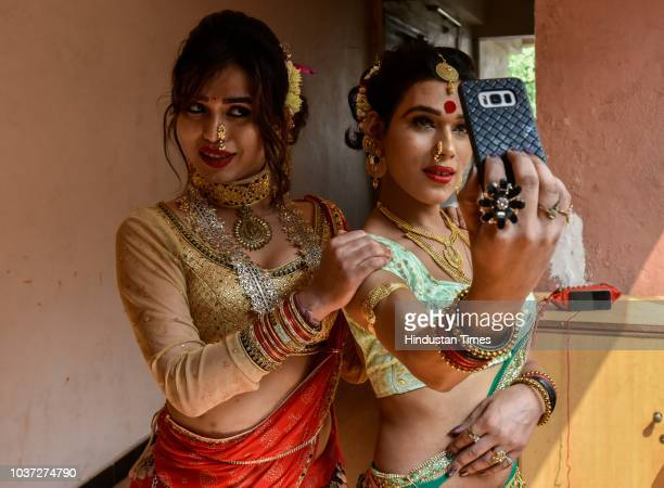 Skilled transgender from our skill development unit waits to participate in a fundraising event for the transgender community and their rights...