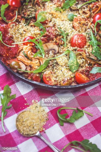 Skillet Spaghetti with Parmesean and Cherry Tomato