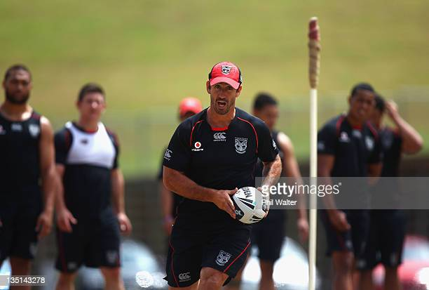 Skills coach Andrew Johns during a New Zealand Warriors media session at Mt Smart Stadium on December 7 2011 in Auckland New Zealand