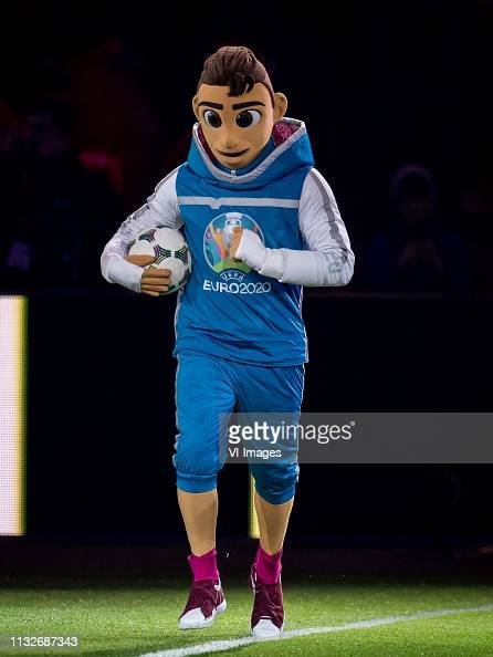 Skillzy, official mascot of Euro 2020 during the UEFA EURO