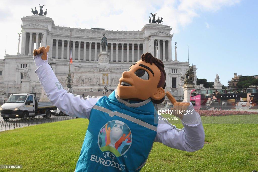UEFA Euro 2020 Mascot SKillzy Shooting In Rome : News Photo