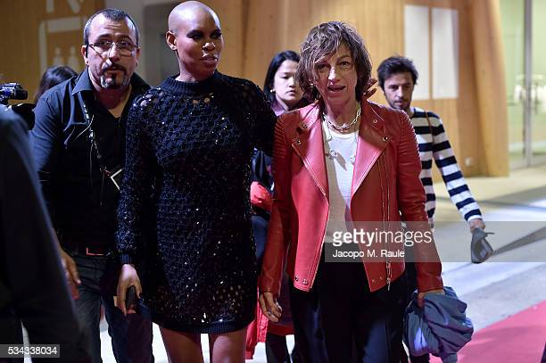 Skin and Gianna Nannini is seen backstage ahead of Bocelli and Zanetti Night on May 25 2016 in Rho Italy