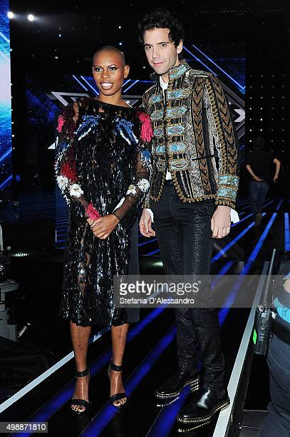 Skin and Mika attend 'X Factor' Tv Show on November 25 2015 in Milan Italy