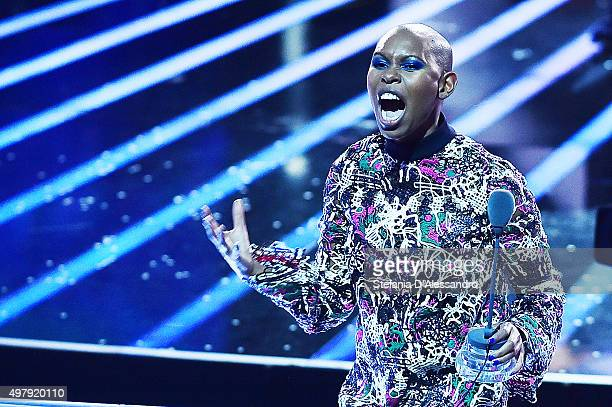 Skin attends 'X Factor' Tv Show on November 19 2015 in Milan Italy