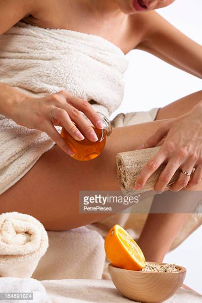 Skin Body Care with Organic Natural Sponge, Honey and Orange.