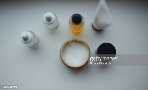 skin care items on a white background - kristina strasunske stock pictures, royalty-free photos & images