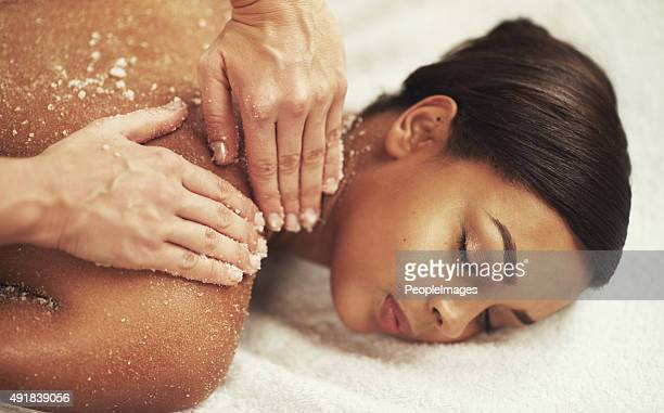 Skin exfoliation and stress elimination