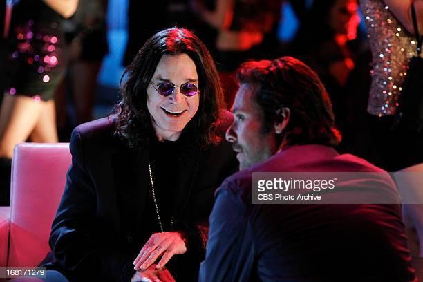 "Skin in the Game"" -- The legendary Ozzy Osbourne speaks with John Merchiston in this scene, on the 13th season finale of CSI: CRIME SCENE..."