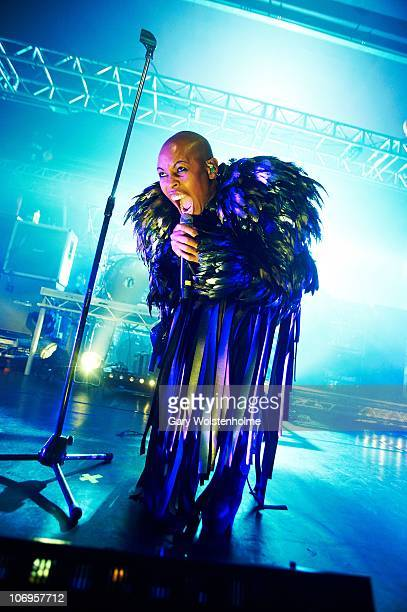 Skin of Skunk Anansie performs on stage at the O2 Academy on November 18, 2010 in Sheffield, England.