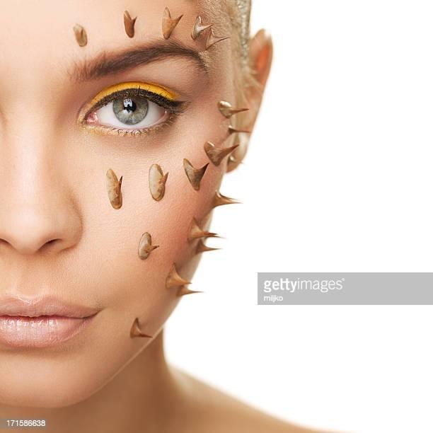 problemas de piel - espina fotografías e imágenes de stock