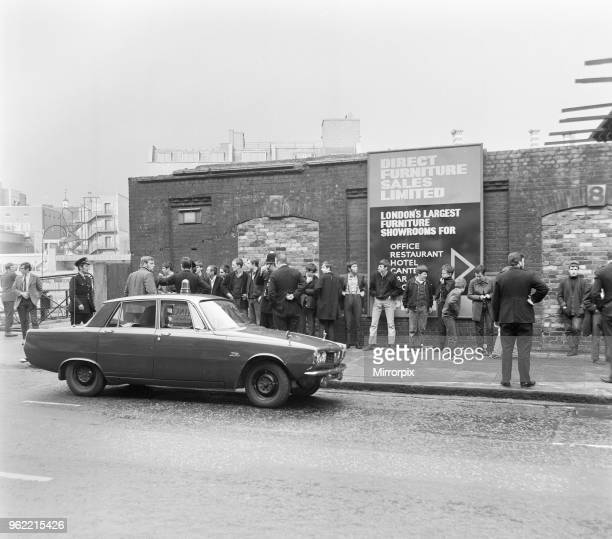Skinheads clash in Farringdon Road, London. Twenty to thirty youths were chased along the Farringdon Road after incidents involving a dmaged train...