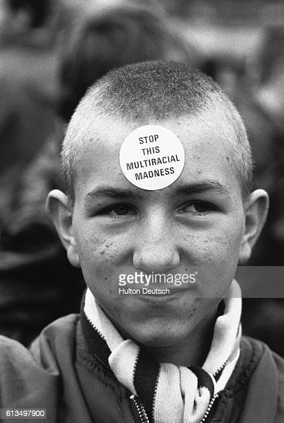 Skinheads Demonstrating Against Immigration