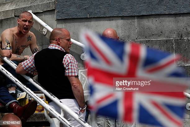 Skinheads gather during The Great Skinhead Reunion on June 07 2015 in Brighton England The reunion of skinheads is now its fifth year with three days...