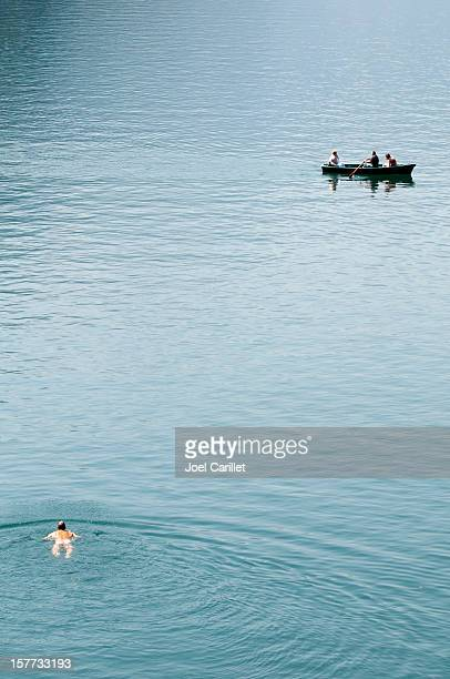 skinny dipping at lake königssee in germany - german naturist stock pictures, royalty-free photos & images