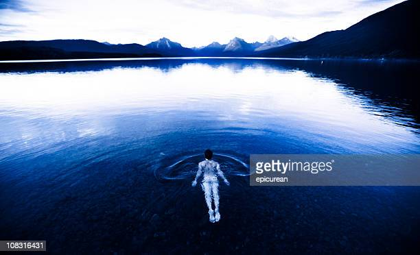 skinny dipping in montana - skinny dipping stock pictures, royalty-free photos & images