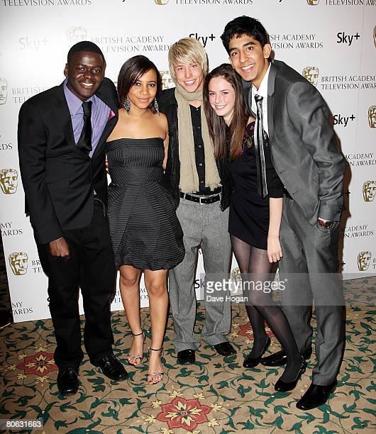 'Skins' actors Daniel Kaluuya Larissa Wilson Maxxie Hewer Kaya Scodelario and Dev Patel attendsthe British Academy Television And Craft Awards...