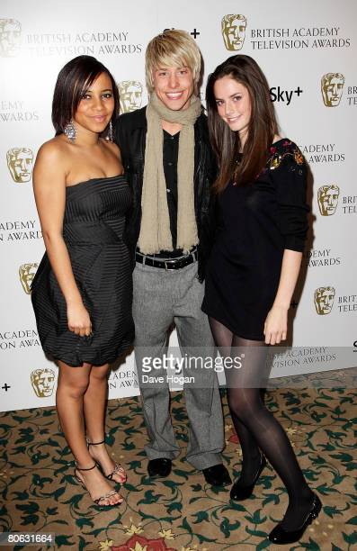 'Skins' actors Larissa Wilson Maxxie Hewer and Kaya Scodelario attend the British Academy Television And Craft Awards Nominees Reception at the...