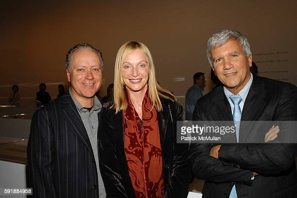 Skip Bronson Edie Baskin and Larry Gagosian attend ED RUSCHA Then and Now at Gagosian Gallery on October 27 2005 in Los Angeles California