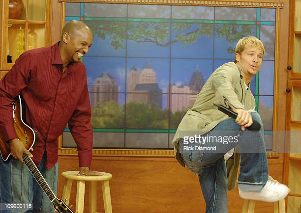 Skip Dorsey and Brian Littrell during Brian Littrell Visits Good Morning Atlanta To Promote His Album Welcome Home May 2 2006 at FOX 5 Studios in...