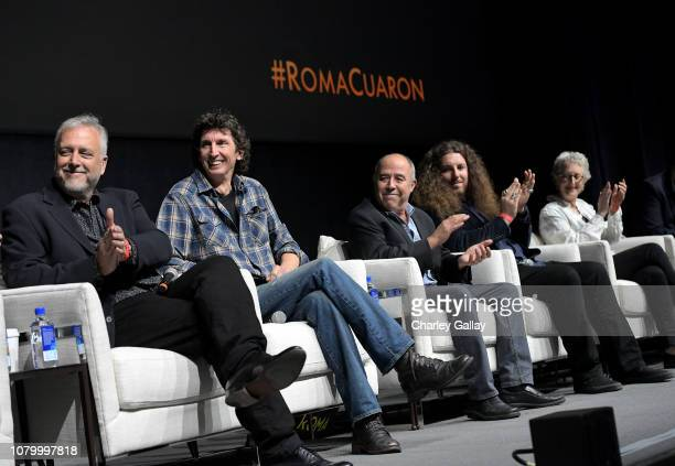 Skip Lievsay, Craig Henighan, Jose Antonio Garcia, Adam Gough and Lynn Fainchtein speak onstage at the Netflix 'Roma' Experience at Raleigh Studiods...