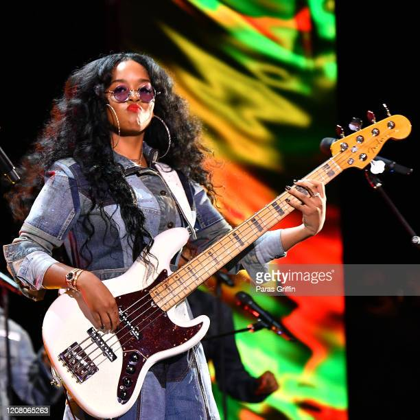 Skip Marley and HER attend the 51st NAACP Image Awards Presented by BET at Pasadena Civic Auditorium on February 22 2020 in Pasadena California