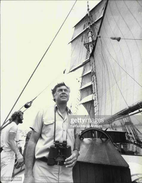 Skipper Ricard GronoThe 48 metre Brigintine The Eye Of the Wind sailed into Sydney Harbour today accompanied by a flotilla of small craft and...