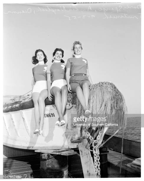 Skipperette of Fishermen's Fiesta 2 September 1955 Doris SpanjeAmelia Nizetich Deana TrutanichSupplementary material reads 'Chernus Harbor Caption...
