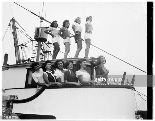 Skipperettes' for Fishermen's Fiesta 4 September 1951 Shalene GrannisMarlene NolanSally GarrabrantPeggy KernsPauline IaconoElvy MarchinsEvelyn...