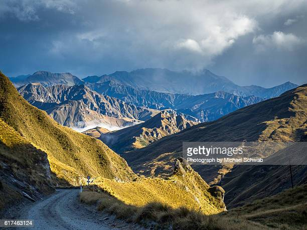 skippers canyon, new zealand - otago region stock pictures, royalty-free photos & images