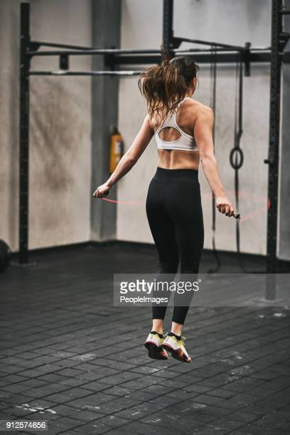 skipping her way to her fitness goals - skipping along stock pictures, royalty-free photos & images