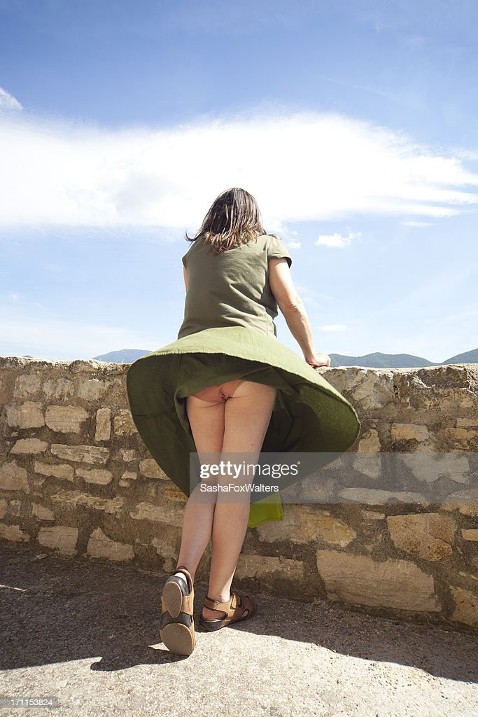 skirt blown by wind : Stock Photo