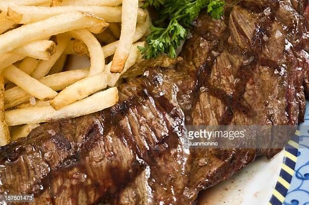 Skirt Steak and fries