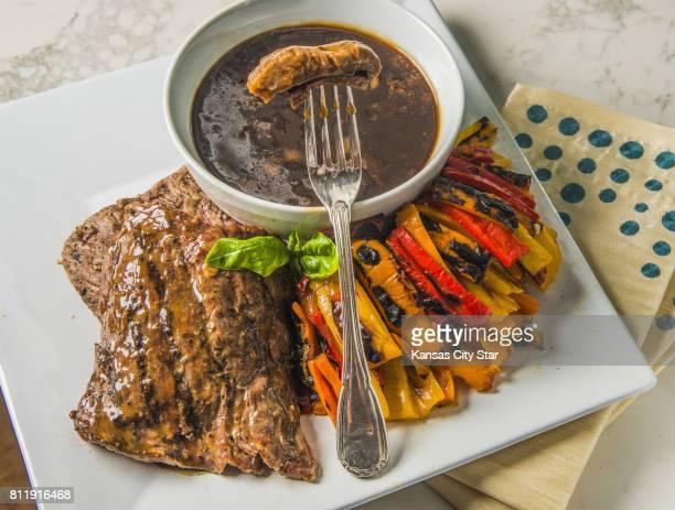 Skirt Steak Marinade to Wake You with beef and veggies