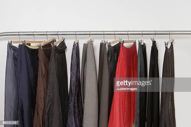 skirts on a rack - スカート ストックフォトと画像