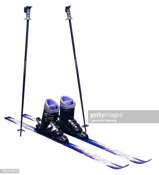 skis and poles - ski pole stock pictures, royalty-free photos & images