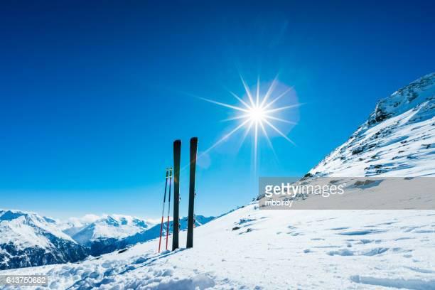 スキーやリモート斜面スキー ストック