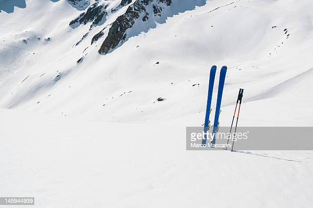 Skis Planted in the Snow