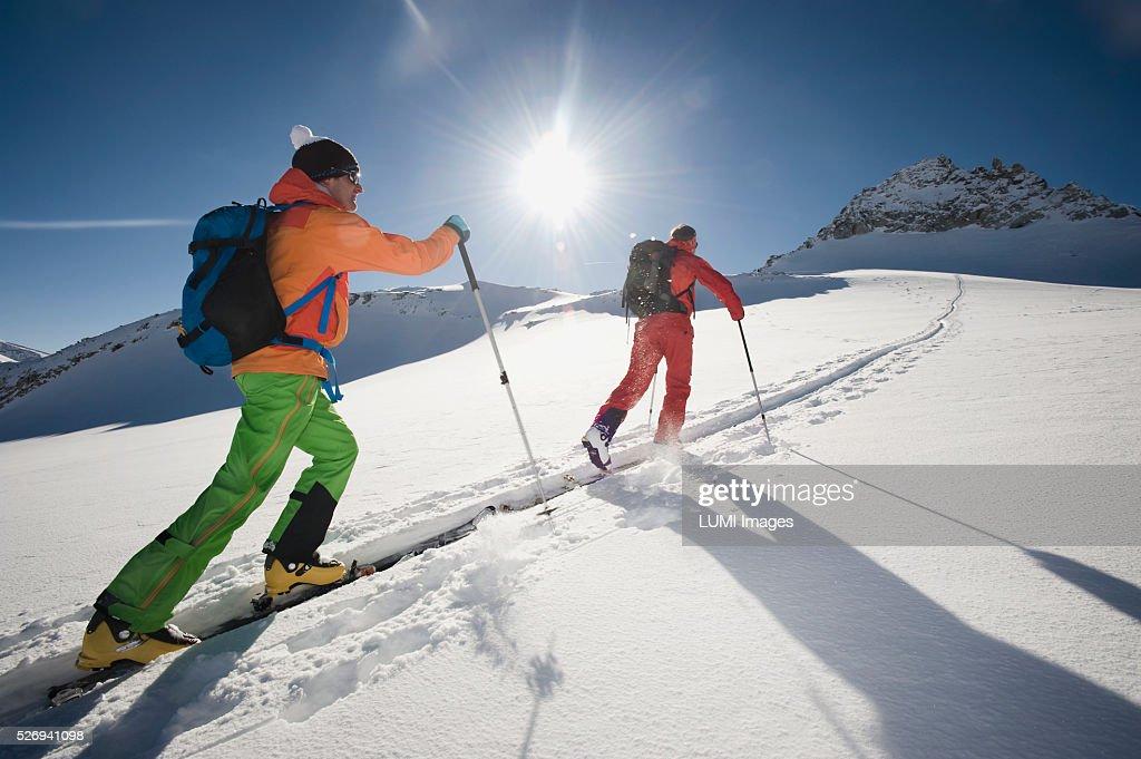 Skitour, Weissenseegletscher, Salzburg, Austria : Stock-Foto