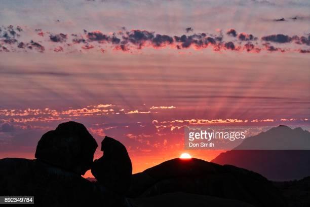 skitzkoppe sunset - don smith foto e immagini stock