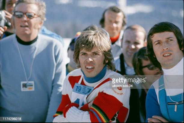 Ski-WM in St. Moritz 1974: Hinterseer in Erwartung der Konkurrenten